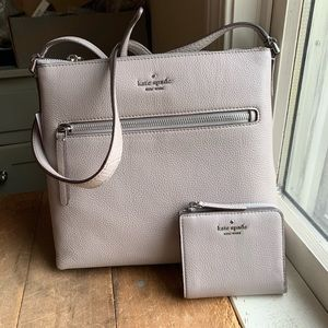 Jackson Top Zip Crossbody and Wallet in Soft Taupe